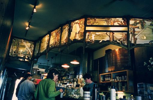 Custom Made Cafe Ladro Seattle Coffee Shop Mural