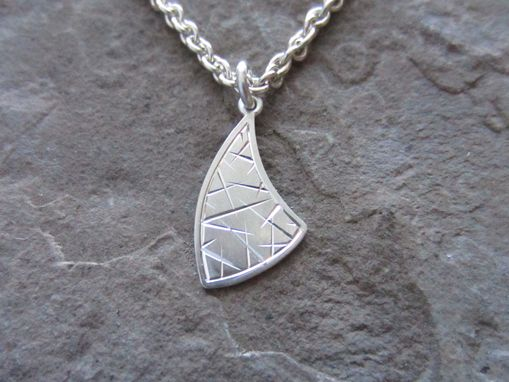 Custom Made Bright Cut Lines Pendant