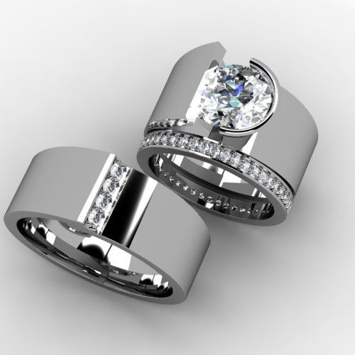 Hand Crafted Custom Bridal Wedding Band Set By Paul