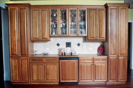Custom Made Cherry Kitchen Unit