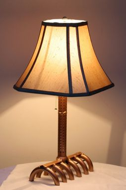 Custom Made Exhaust And Suspension Table Lamp