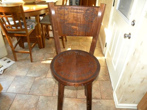 Custom Made Oak Barstool