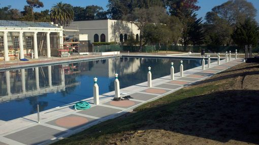 Custom Made Roman Plunge Bollards For U.S. Naval Academy, Monterey Ca.
