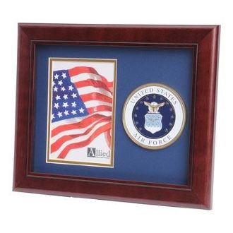 Custom Made U.S. Air Force Medallion Portrait Picture Frame