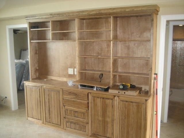 Hand Made Stained Poplar Media Center By Saw Tooth Designs Llc