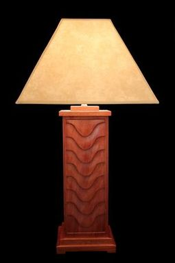 Custom Made Hand Carved Mahogany Table Lamp