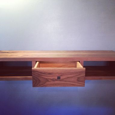 Custom Made American Walnut Floating Console.