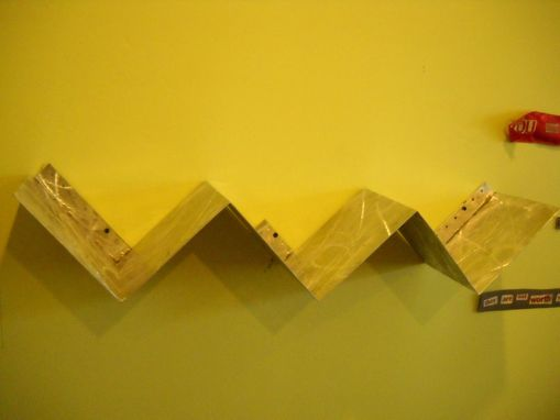 Custom Made Hanging Zig-Zag Shelf