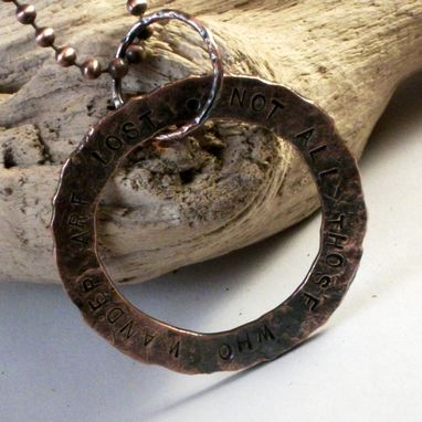 Custom Made Lord Of The Rings Copper Pendant Ring