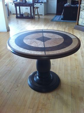 Custom Made Exotic Veneer Round Table
