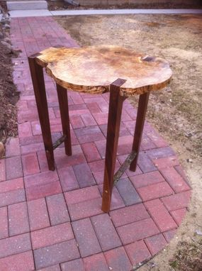 Custom Made Live Edge Maple Side Table