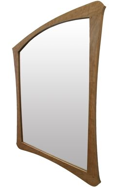 Custom Made Art Nouveau Mirror | Solid Figured Cherry