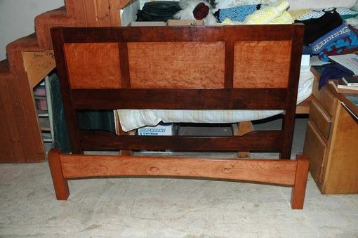 Custom Made Cherry Queen Size Bed Frame