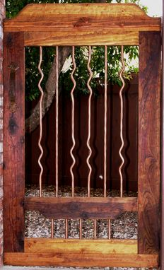 Custom Made Rustic Wood & Iron Gate, Courtyard/Garden Gates, Pedestrian Gates