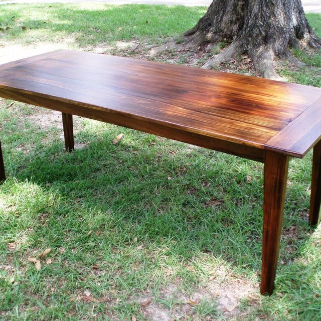 Handmade Reclaimed Wood, Acadian-Style Tables (Cypress) by Joseph Cataldie:  Inspired Cypress Carpentry | CustomMade.com - Handmade Reclaimed Wood, Acadian-Style Tables (Cypress) By Joseph