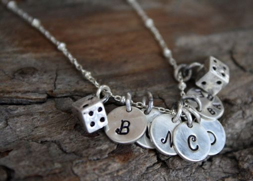 Custom Made Sterling Silver & Fine Silver Bunco Necklace - Personalized