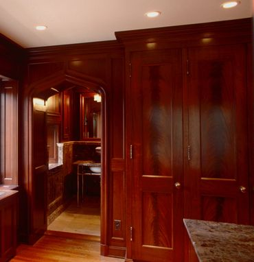 Custom Made Mahogany Dressing Room