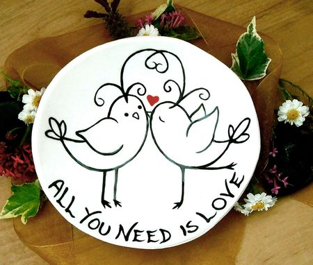 Custom Made Ring Bowl - All You Need Is Love