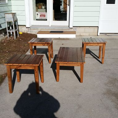 Custom Made Custom Living Room Table Set