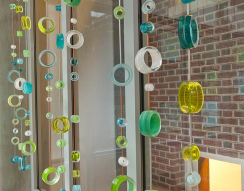 Custom Made Glass Circles, Hanging Sculpture