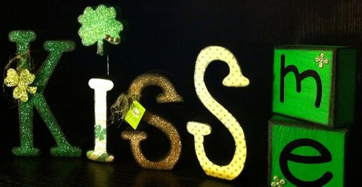 Custom Made St. Patrick's Day Kiss Me Letter Set