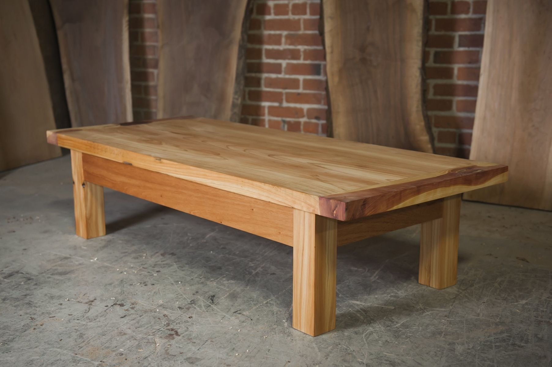 Custom Made Three Cedar Outdoor Coffee Table