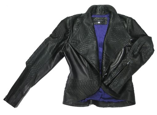 Custom Made Women's Python And Italian Lambskin Suit