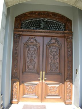 Custom Made Italian Carved Entry Door