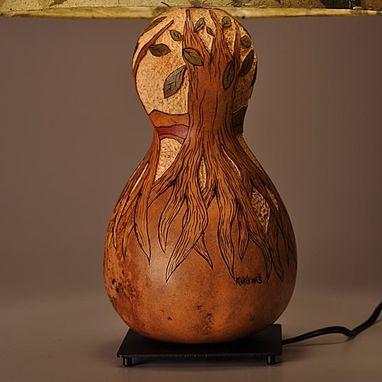 Custom Made Gourd Lamp Tree With Roots Design