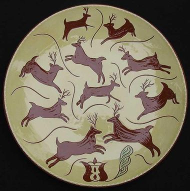 "Custom Made ""Ten Lords-A-Leaping""  , Ceramic Plate"