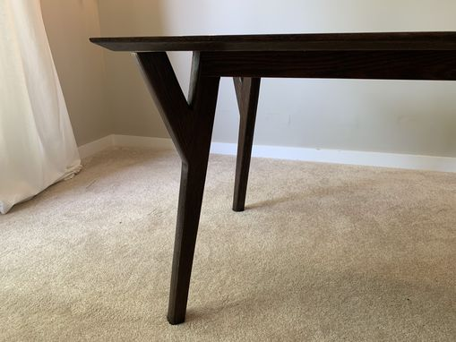 Custom Made Mid-Century Modern Custom Splayed Legged Table
