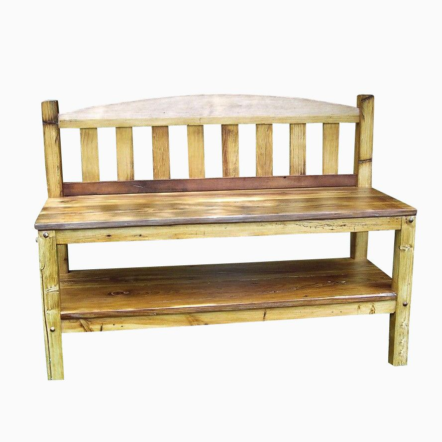 Rustic Reclaimed Wood Storage Bench - Reclaimed Wood Benches Barnwood Benches CustomMade.com
