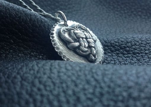 Custom Made Fine Silver Heart Love Knot Pendant Necklace