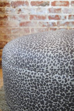 Custom Made Large Leopard Ottoman / Coffee Table
