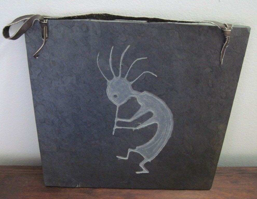 Custom Native American Indian Inspired Art Slate Carving
