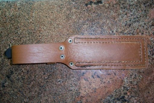 Custom Made Custom Leather Sheath Built For This Brand New Puma Tec Fighting Knife