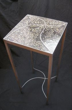 Custom Made Concrete And Steel Occasional Table