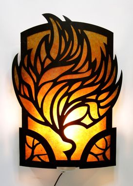 Custom Made Fire Leaf Sconce