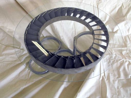 Custom Made Aeronautical Jet Engine Coffee Table