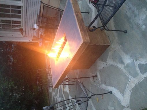 Custom Made Concrete Fire Table