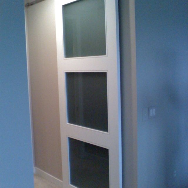 Hand Crafted Custom Closet Doors With Barn Door Hardware By Coastal