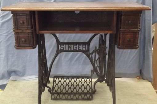 Custom Made Treadle Sewing Machine Entertainment Center