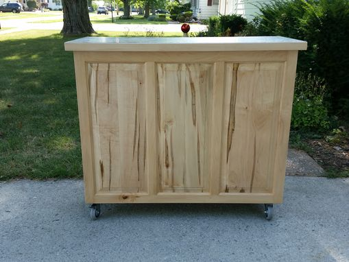 Custom Made Maple Rolling Kitchen Island