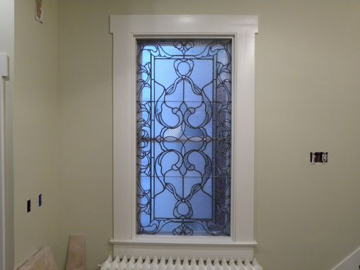 Custom Made Victorian Style Leaded Glass Window  (All Clears)