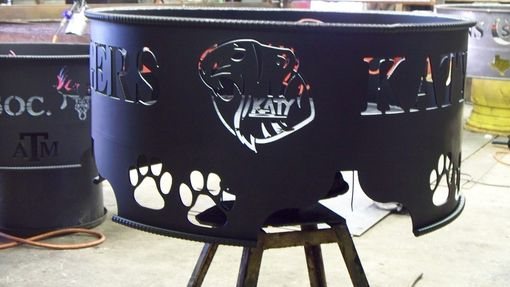 Custom Made Katy Tigers Firepit