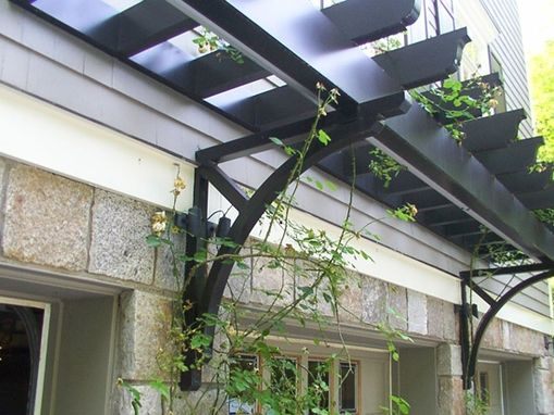 Custom Made Custom Trellis Enhances Garage Entry In Greenwich Ct