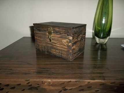 Custom Made Keepsake Box In Burnt Pine