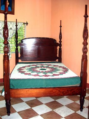 Custom Made Acanthus-Carved Bed