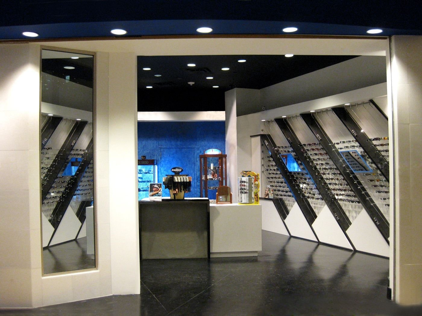Custom Made Sunglass Warehouse Retail Environment By