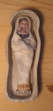 Custom Made Dollhouse (1/12) Scale Mummies In Basic Sarcophagus